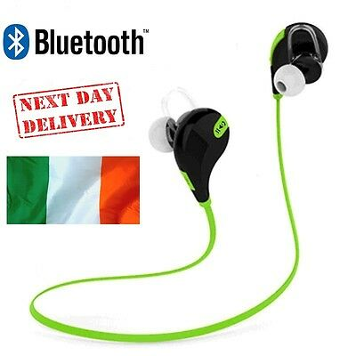 NEW Sweatproof Wireless Bluetooth 4.1+EDR Earphones Headphones Headset Sport Gym