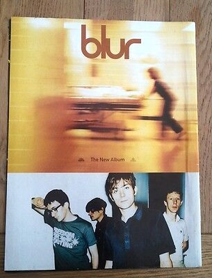 BLUR 'new album' magazine ADVERT/Poster/clipping 11x8 inches