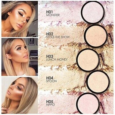 5 Colors Shimmer Pressed Face Highlight Powder Easy to Wear Brightening Makeup