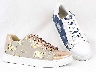 Women Fashion Sequin Glitter Comfort Sneaker Tennis Shoes All New Design Lace Up