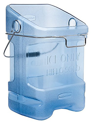 Rubbermaid Commercial Ice Bucket Tote with Bin Hook Adapter, 5-1/2 Gallon, Blue