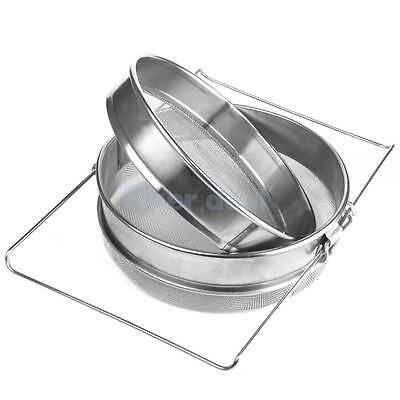 Stainless Steel Beekeeping Double Honey Filter Apiary Strainer with Handle