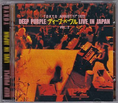 Deep Purple - Live In Japan Tokyo '72 ULTRA RARE COLLECTOR'S CD! FREE SHIPPING!