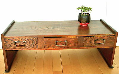 ANTIQUE - JAPANESE WRITING DESK - 3 DRAWERS - EARLY 1900's