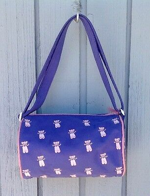 Dance Bag Embroidered Ballet Shoes Horizon Small Duffle Style Purple Pink Used