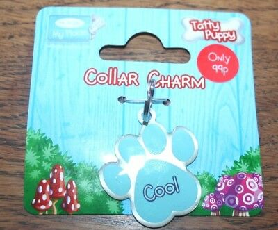 NEW - ME TO YOU TATTY PUPPY - Cute Blue Dog Paw - Collar Charm