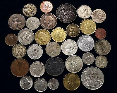 World Coins With Silver Lot Of 32  *dates:1896 To Present*