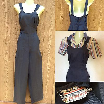 Vintage 1940s WWII Rosie the Riveter Overalls Workwear Women in National Defense