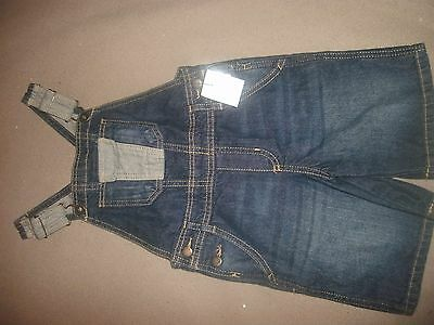 "New ~ OshKosh ""Genuine Kids"" Denim Overall Shorts ~ Size 3T"