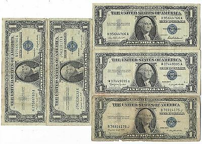 US Blue Seal Washington Silver Dollar Bill Certificate Old Rare Collection Lot