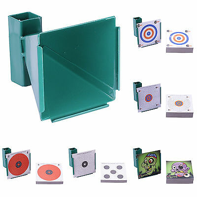 14cm TARGET HOLDER 50 / 100 CARD TARGETS Funnel Pellet Trap Catcher Airgun Air