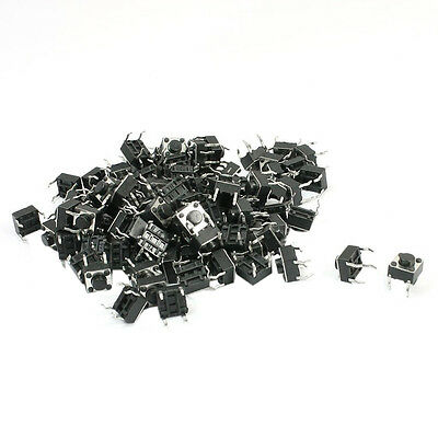 SY 100Pcs DIP Through Hole SPST Momentary Tactile Tact Switch 6 x 6 x 5mm
