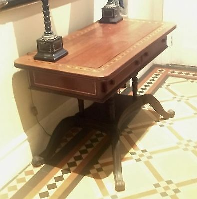Antique Hall Console Table With 2 Drawers