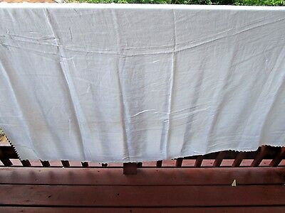 Vintage Cotton and Crocheted Edge Table Cloth 66x80