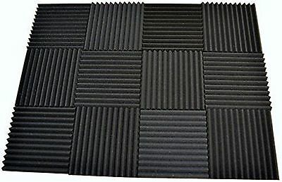 "12 Pack - Acoustic Panels Studio Soundproofing Foam Wedge tiles 1""x12""x12"""