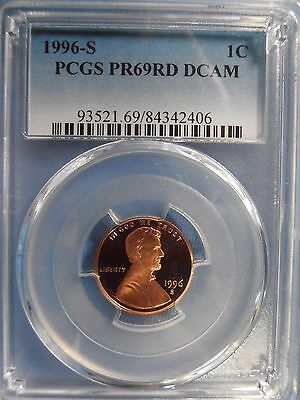 1996 S PCGS PF69RD DCAM Lincoln Cent Proof - FREE SHIPPING