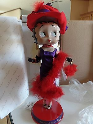 Danbury Mint Betty Boop Over Fifty & Fabulous Red Hat Society Porcelain NIB