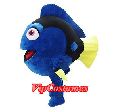 Blue  Dory Nemo Fish Mascot Costume Adult Size Party  Outfits Fancy Dress