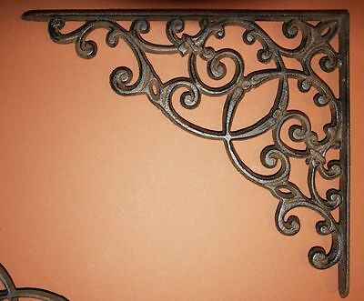 (4) Unique Boutique Shelving, Victorian Antique-look Shelf Brackets,13 inch, B-2