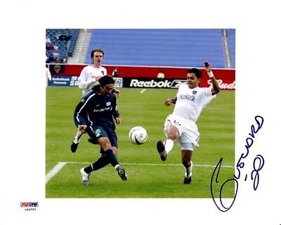 Amado Guevara Authentic Autographed Signed 8x10 Photo Metro Stars PSA/DNA