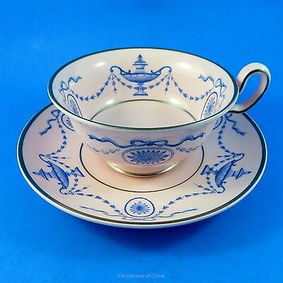Blue Garlands Cameos and Ribbons Wedgwood Tea Cup and Saucer Set