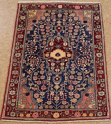 Persian JOZAN Tribal Hand Knotted Wool BLUE RED Fine Oriental Rug 2 x 3