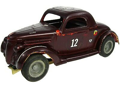 Vintage 1960's Monogram '36 Ford Coupe 1/24 Slot Car w/Brass Chassis