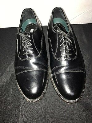 Men's Florsheim Imperial Dress Shoes Black Leather Lace Size 8 3E Used