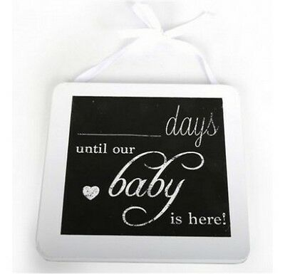 Chalkboard Plaque Sign For Pregnancy Countdown Days Until Our Baby Is Here Gift
