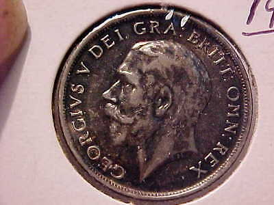 1916 SHILLING - George V Great Britain SILVER COIN .925 XF