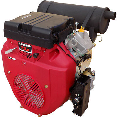 20HP V Twin Cylinder Petrol Engine with Electric Start - 28.6mm Shaft