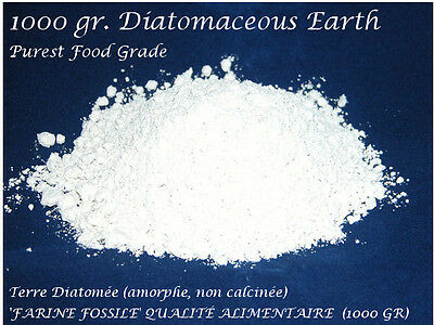 Diatomaceous Earth, Food Grade (Purest Freshwater Diatomite, From Peru) [1Kg|Uk]