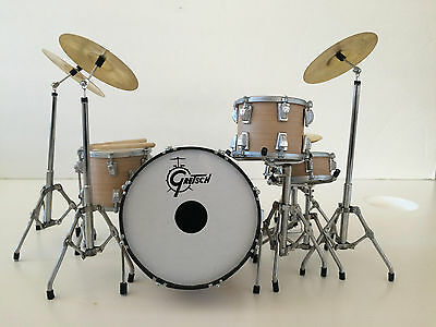 Charlie Watts Rolling Stones Drum Set Miniature Replica -Free Shipping within US