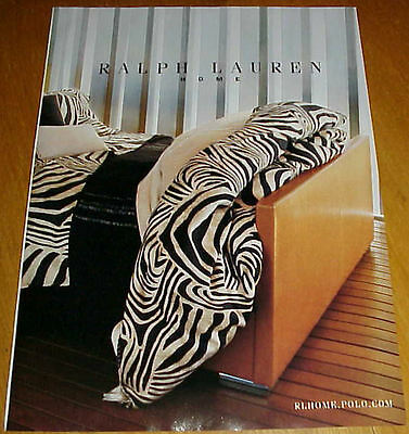 2004 RALPH LAUREN Home Collection 5 Page Magazine Ads #031817