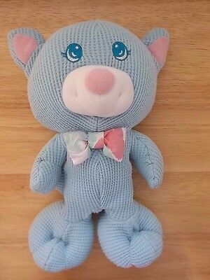 Vintage 1994 Fisher Price Cozies Thermal Blue Cat Stuffed Animal Plush Toy