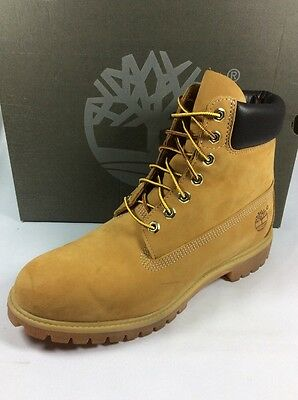 TIMBERLAND 6 inch premium men boot wheat waterproof leather Sz. 11 Worn once