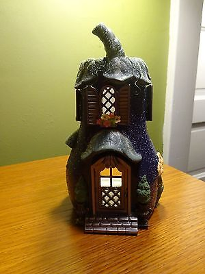 Partylite Eggplant Villa Tealight Candle Holder Fairy House P8617 Retired