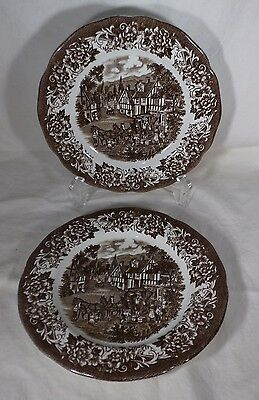 Pr Plates Royal Staffordshire Browns Stratford Stage Design Meakin England Good