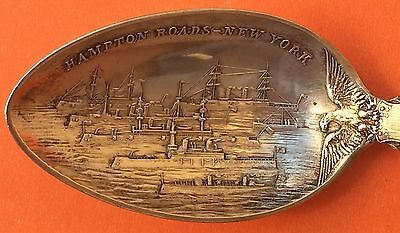 Rare Naval Review Columbian Exposition 1893 Sterling Silver Souvenir Spoon