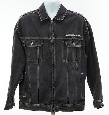 Men's ROCA WEAR Black 100% Cotton Denim Jacket Size L