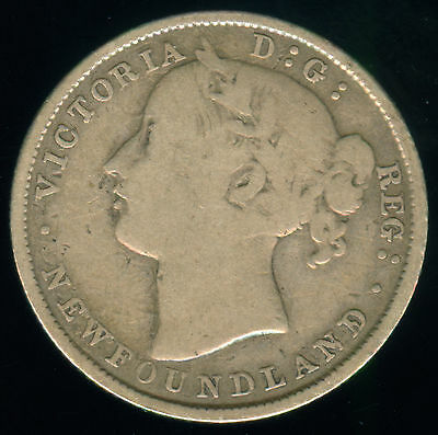 1870 Newfoundland Silver 20 Cents