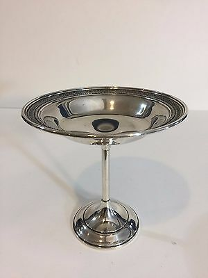 """Vintage Sterling Silver 973 Pedestal Compote Candy Dish, 5 1/2"""" Tall, 125 Gram"""
