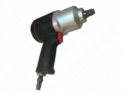 "1/2"" Drive Composite Twin Hammer Air Impact Wrench 850ft/lb 1156NM!! Rattle Gun"