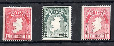 Ireland 1934-40 Coil Stamp Set SG72c, SG74a and SG112b MNH WS4472