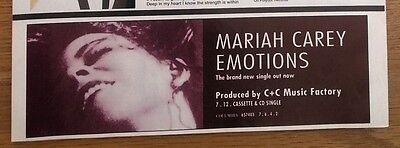 MARIAH CAREY Emotions magazine ADVERT/Poster/clipping 8x3 inches