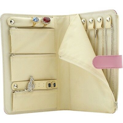 Leather Wallet Travel Jewellery Holder -  FREE MATCHING LUGGAGE TAG