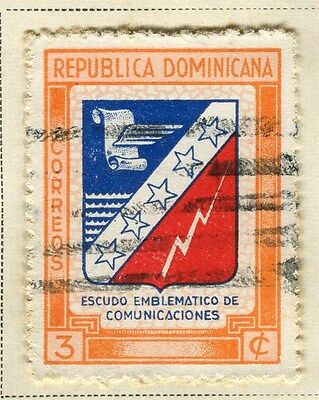 DOMINICA;   1945 early Emblem issue fine used 3c. value
