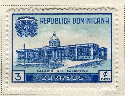 DOMINICA;   1948 State Building issue Mint hinged 3c. value