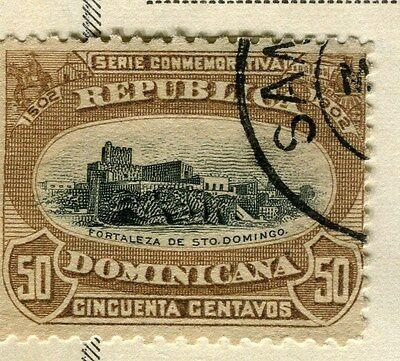 DOMINICA;   1902 early Sanchez issue fine used 50c. value