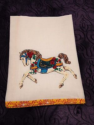 Women's Beautiful Colorful Horse Handkerchief White Hanky NEW